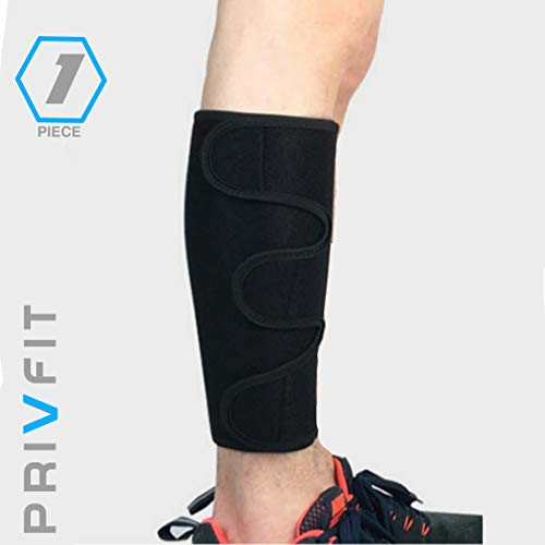 Privfit Calf Brace Shin Splint Compression Support Lower Leg Wrap Sleeve for Torn Calf Muscle, Strain, Sprain, Pain Relief, Tennis Leg, Injury for Men and Women
