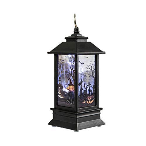 Machen Kostüm Tor - Halloween-Licht, the World's First-Gemalte Lampe Des Weinlese-Kürbis LED, Hängende Tragbare Flammen-Laterne