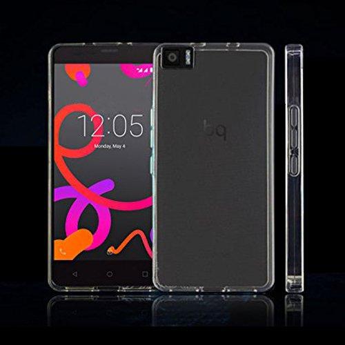 Donkeyphone UT0169 - Funda gel para Bq Aquaris M5.5 (silicona ultra fina) transparente