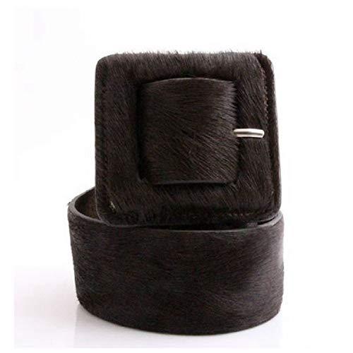 Cinturón Elástico Ancho con Estampado De Leopardo Ancho Cinturón Correa Ancha para Mujer del Todo-Fósforo De Mujer, Negro
