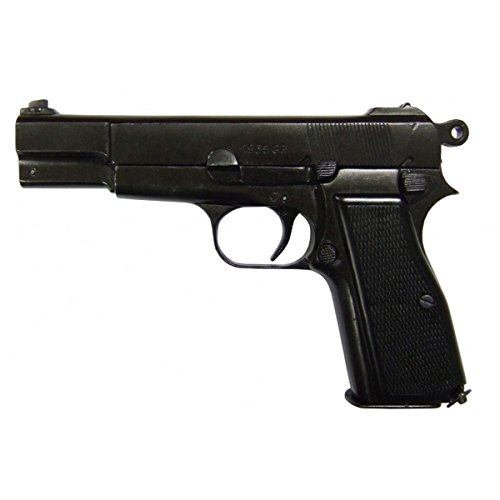 Denix Pistole Browning HP/GP35 Deko Nachbau Schusswaffe Metall -
