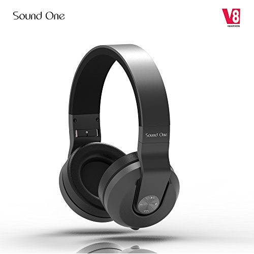 Sound One V8 Bluetooth Wireless Headphones With Mic (Black)