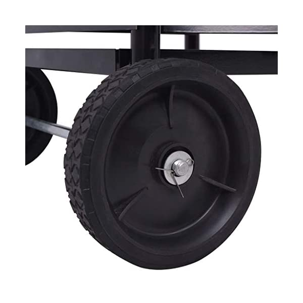vidaXL Leñero de Hierro Peso Total: 7 kg Dimensiones 35x30x81 cm Color Negro
