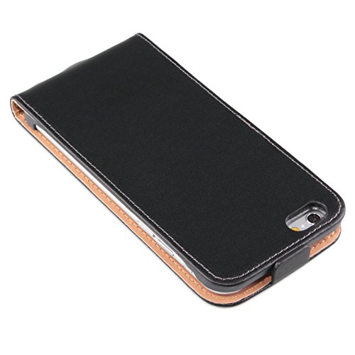deinPhone Apple iPhone 6 Plus (5.5) Custodia Bumper Case custodia con chiusura a linguetta, nero