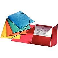 Esselte Chemise 3 Rabats, Contient jusqu'à 200 Feuilles A4, Fermeture Élastique, Carton, Couleurs Assorties, Lot de 5, Rainbow, 15523