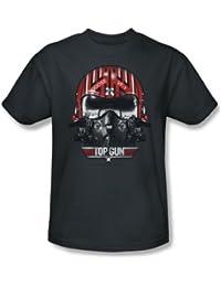 Top Gun - Herren Goose Helmet T-Shirt in der Holzkohle