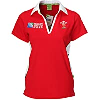 WRU Rugby World Cup 2015 Ladies Short Sleeve Rugby Shirt uk 14/16