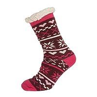 Aler Womens/Ladies Thermal Heart Design Co-Zees Slippers (1 Pair) (4-7 UK) (Purple/Pink)