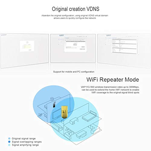 300Mbps WiFi Wireless Repeater Bridger with Wide 500M Coverage Distance Color yellow