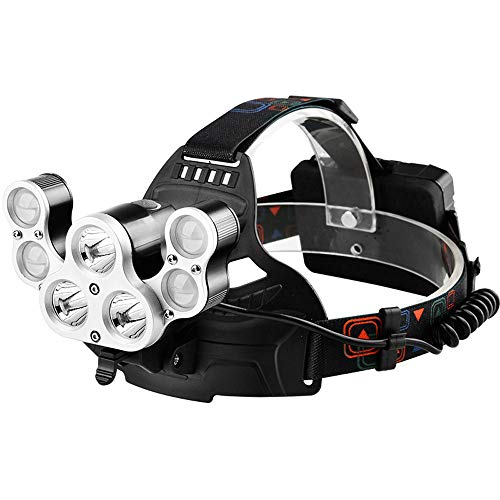 Scheinwerfer Super Helle Blare Kopf-Montiert 3000 Aufladen Wasserdichten Outdoor-Jagd Minen LED Nachtlicht Angeln Taschenlampe Warnlicht 5600 Lumen