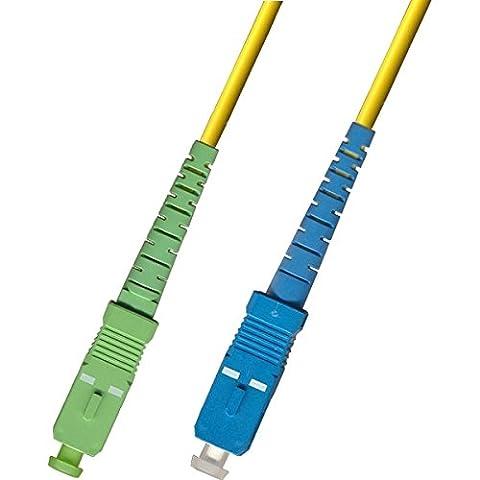 Jarretière optique OS1 SC-APC / SC-UPC 15m pour FREEBOX V5 / V6 / Mini 4K