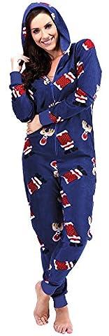 Frauen Damen WEIHNACHTEN Christmas Onesie Jumpsuit Strampelanzuge Strampler Schlafoverall