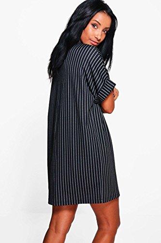 Femmes gris Aria Stripe Woven One Sized Dress Gris