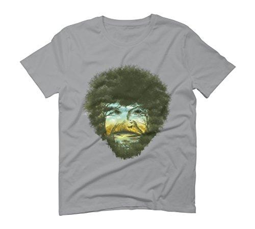Large Opal Graphic T-Shirt - Design By Humans (Bob Ross Shirt)