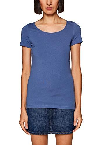 ESPRIT Damen 019EE1K001 T-Shirt Blau (Grey Blue 4 423), Herstellergröße: XX-Large -