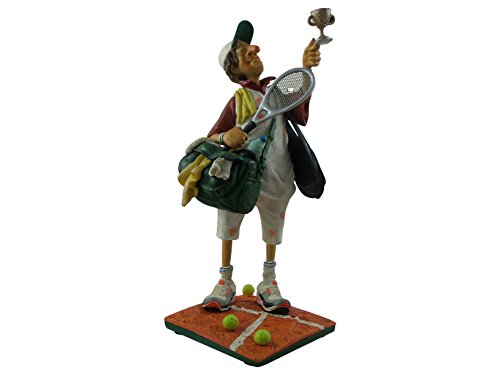 Guillermo Forchino Der Tennisspieler - The Tennis Player - mini Skulptur in Comic Art FO84008