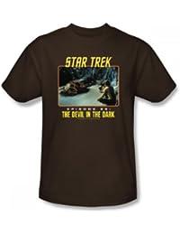 Star Trek - St / Devil In The Dark Adult T-Shirt In Coffee