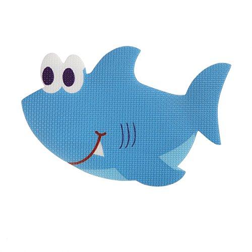 BESTOMZ 5 Stücke Anti-Rutsch Sticker für Badewanne Dusche Bad Haifisch Form (blau)
