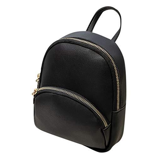 TAMALLU Bag Handtaschen Art Weisefrauen Schulter Wild Rucksack Einfarbig Geldbeutel Büro Tasche(Schwarz)