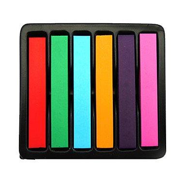 GANTA @ 6 Stick Einweg Haarfärbung Zeichenstiftfeder Gradienten Haar Kreide sterben temporäre Haarfarbe Farbstoff Salon kit weichen Pastell