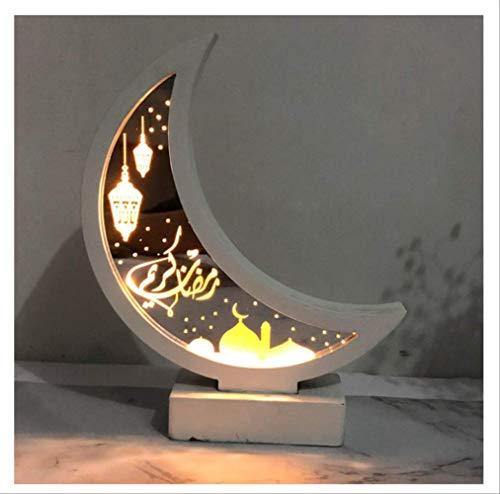 Nachtlicht Ramadan Mubarak Dekorationen Lichter Holz Schreibtischlampe Islam Muslim Event Party Supplies (keine Batterie)