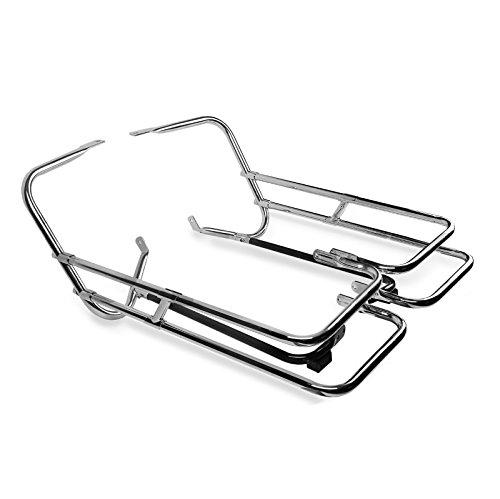 Protection de sacoche pour Harley Davidson Road King 97-08 chrome