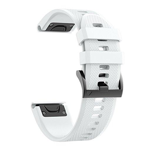 NotoCity Silikon Armband Kompatibel mit Garmin Fenix 5/5 Plus/Instinct/Forerunner 935/ Approach S60/ Quatix 5 Easy Fit 22mm Uhrenarmband Unisex