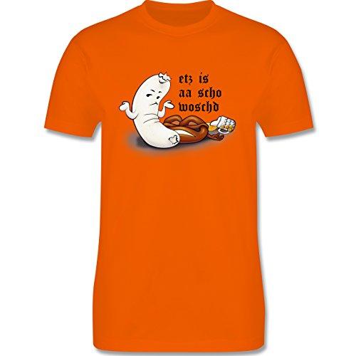 Oktoberfest Herren - Etz is aa scho woschd - Herren Premium T-Shirt Orange
