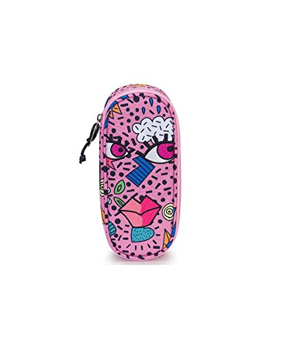 Portapenne invicta - lip pencil bag face - azalea pink rosa - porta penne scomparto interno attrezzato