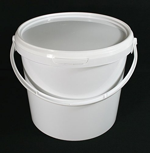 Pack 5x 5litros hermético alimentos grado blanco