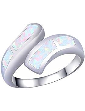 KELITCH Fingerring Opal Eröffnung Manschette Ring Sterling Silber überzogen 925