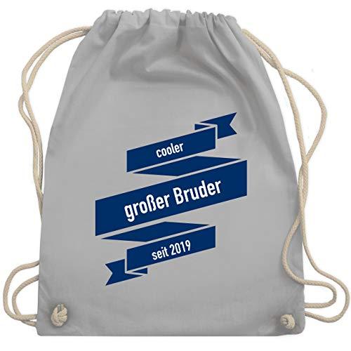 Anlässe Kinder - cooler großer Bruder seit 2019 - Unisize - Hellgrau - WM110 - Turnbeutel & Gym Bag (Kordelzug Cooler Bag)