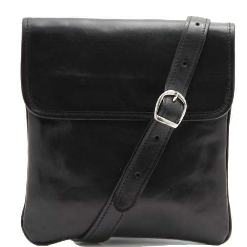 81409874 - TUSCANY LEATHER: JOE - Sac bandoulière en cuir - Unisex, noir