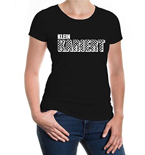 buXsbaum® Girlie T-Shirt Kleinkariert Black-White