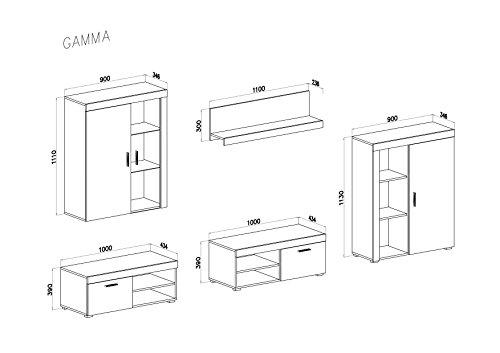 Selectionhome mueble comedor salon moderno con leds for Medidas mueble salon