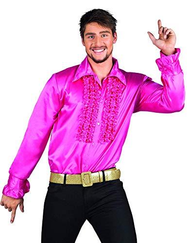 Boland Hemd, Farbe Fuchsia, (Disco Dance Show Kostüm)