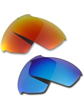 Hkuco Plus Mens Replacement Lenses For Oakley Bottlecap Sunglasses Red/Blue Polarized