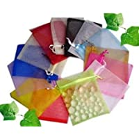 50 White Organza bags small 7 x 9 cm by forever bead