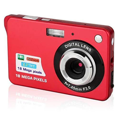 Ggdoo 2,7-Zoll-LCD-HD-Digitalkamera 2,7-Zoll-LCD-HD-Digitalkamera 8X Zoom Digitalkamera Compact Mini Pocket-Kameras 18 Millionen Pixel
