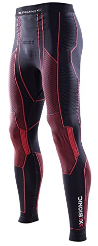 X-Bionic Herren Moto Energizer Man UW Long Leggings, Black/Red, S/M