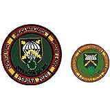 Gemelolandia | Pack Parche militar y Pin de Solapa Operación Balmis España Operación Militar 2020 25 mm | Broche Pin de traje