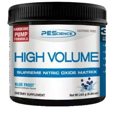 PEScience High Volume Pump Booster Trainingsbooster Caffein Frei Fitness Bodybuilding 252g (Paradise Cooler - Orange Ananas Geschmack) -
