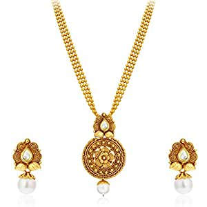 Sukkhi Collection Jewellery Sets for Women (Golden) (2581NKDP450)