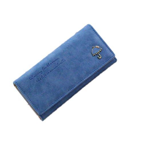 VADOOLL Leder, Damen Geldbörse, Cntmp, Damen Portemonnaie, Damen Börse, Brieftasche lang, Querformat, Natur-Leder, 19x8.2x3.2cm (BxHxT)