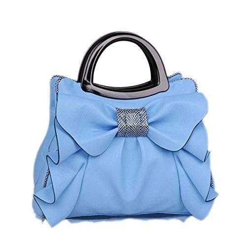 QPALZM QPALZM 2017 Neue Frau Bogen Handtasche Süße Damen Tasche Mode Schultertasche Dame Messenger Bag Blue