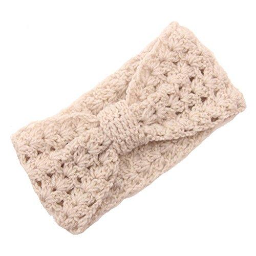 Butterme Mode Elastique Évider Crochet bandeau Cheveux Laine Tricoté Bande de Cheveux Twist Bandeau Accessoires cheveux pour femme filles