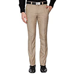 V Dot Mens Casual Trousers (8907670852729_VDTF517E05563_32W x 34L_Beige)