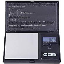 ZHANGYUGE 100g/0.01g LCD Digital Pocket Escala gramo de Oro Joyería Balanza Báscula Mini