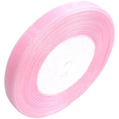 Nastro di organza. Alta qualità molti colori e misure 10mm, 12mm, 20mm, 25mm. Scrapbooking, confezione regalo, decorazione di interni. 46metri/45,7m–Gcs Londra–BUY 3rotoli e Get 4Free, Light Pink, 25 mm