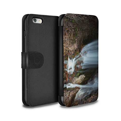 STUFF4 PU-Leder Hülle/Case/Tasche/Cover für Apple iPhone 6S / Pack 14pcs Muster / Schottisch Landschaft Kollektion Kaskade